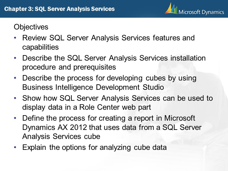 Chapter 3: SQL Server Analysis Services