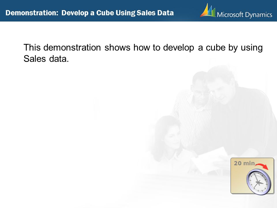 Demonstration: Develop a Cube Using Sales Data