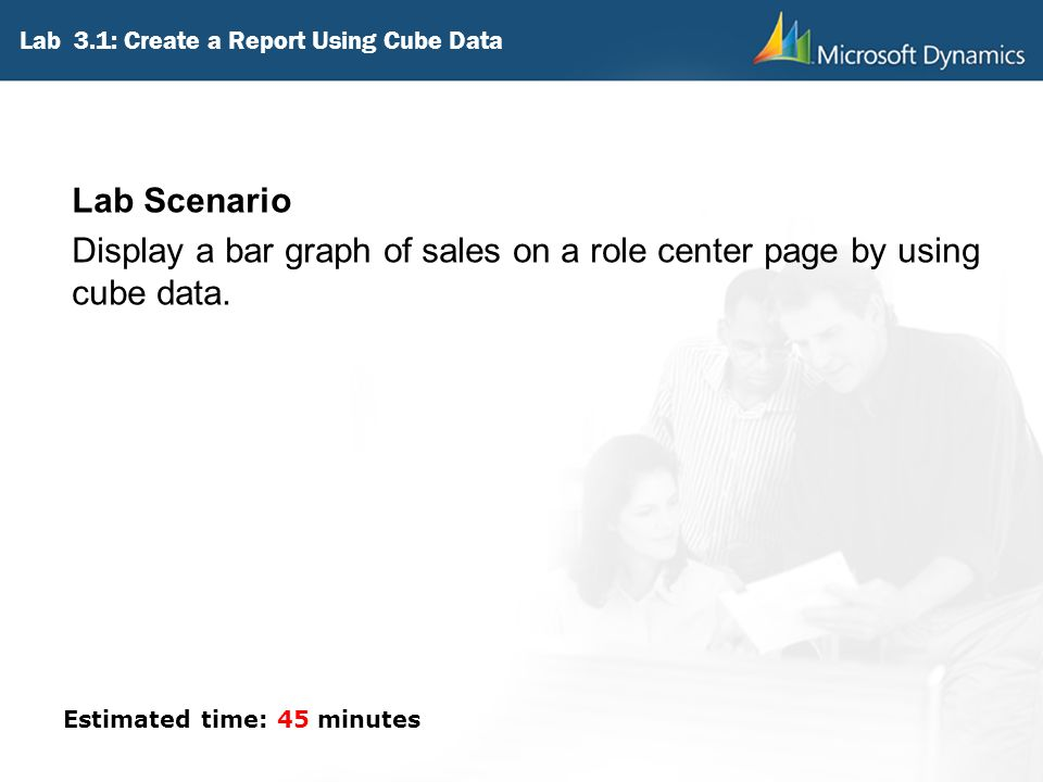 Lab 3.1: Create a Report Using Cube Data