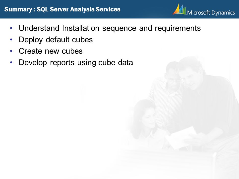 Summary : SQL Server Analysis Services