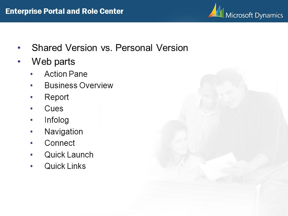 Enterprise Portal and Role Center