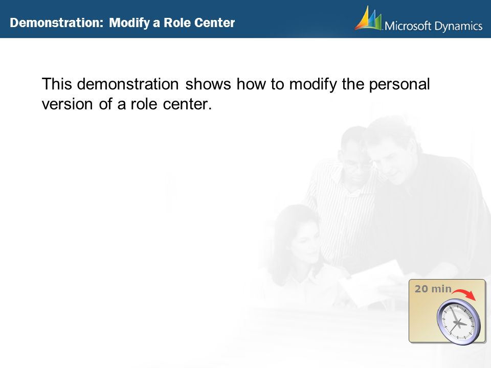 Demonstration: Modify a Role Center
