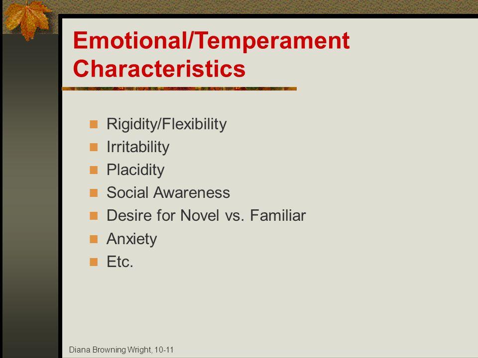 Emotional/Temperament Characteristics