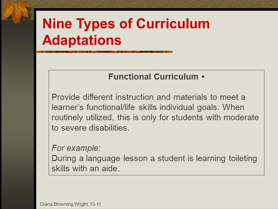 Functional Curriculum •