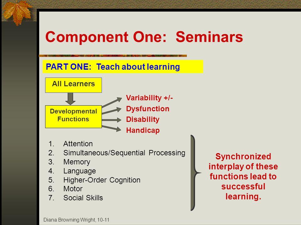 Component One: Seminars