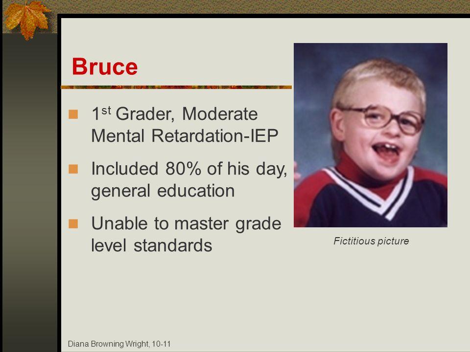 Bruce 1st Grader, Moderate Mental Retardation-IEP