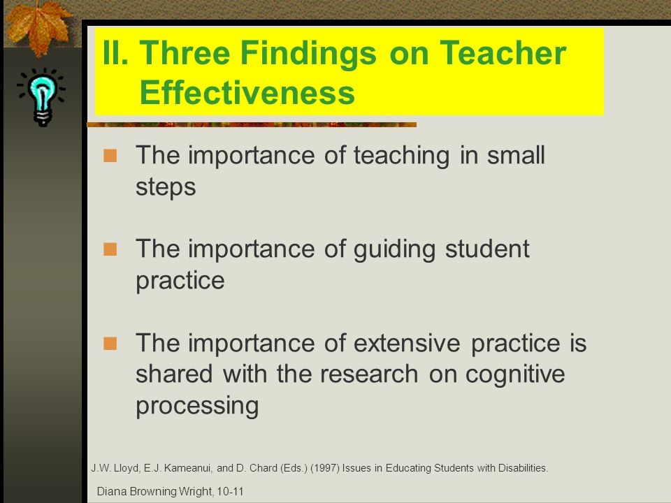 II. Three Findings on Teacher Effectiveness