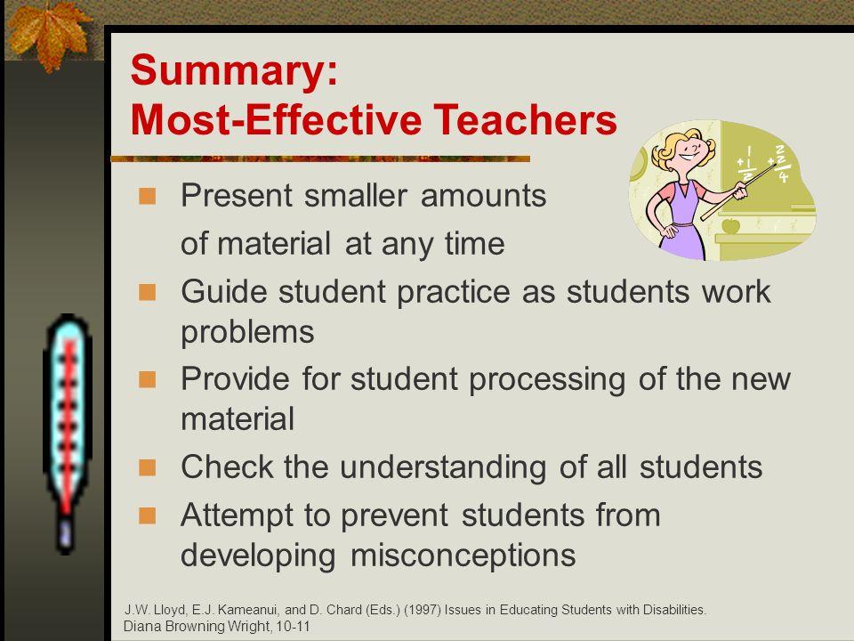 Most-Effective Teachers