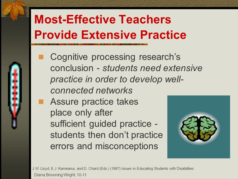 Most-Effective Teachers Provide Extensive Practice