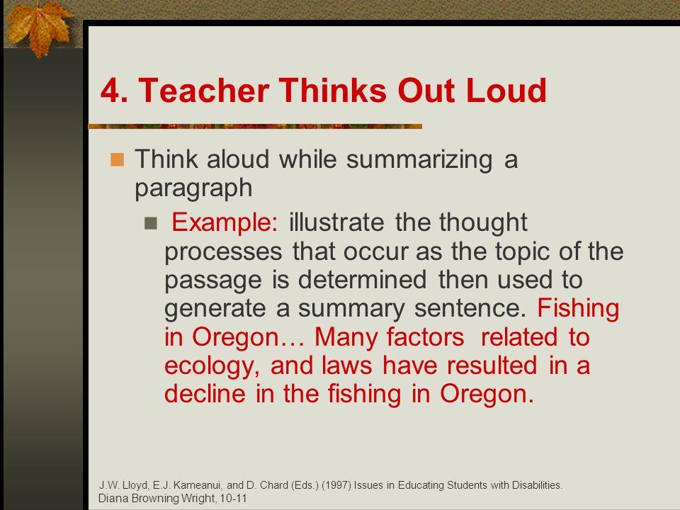 4. Teacher Thinks Out Loud