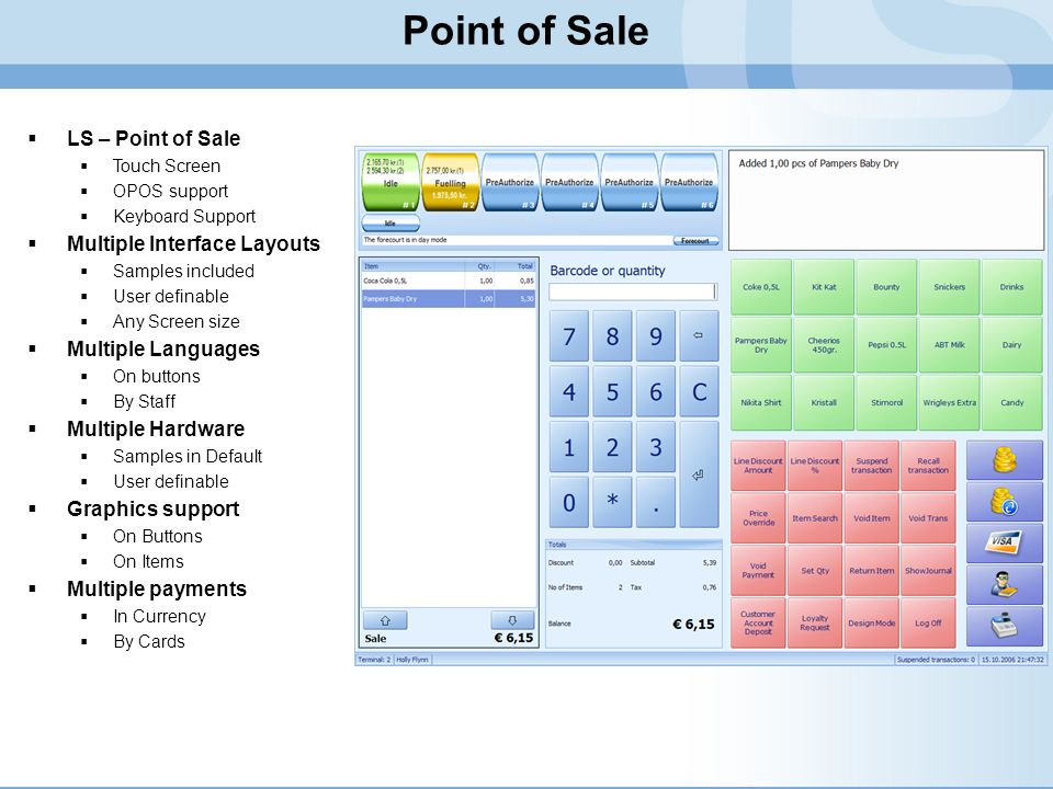 Point of Sale LS – Point of Sale Multiple Interface Layouts