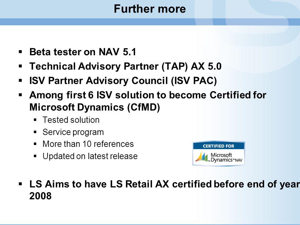 Further more Beta tester on NAV 5.1