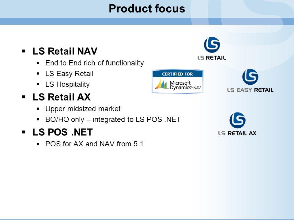 Product focus LS Retail NAV LS Retail AX LS POS .NET