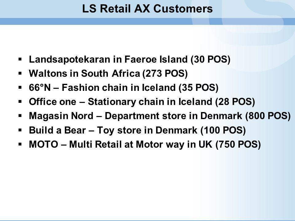 LS Retail AX Customers Landsapotekaran in Faeroe Island (30 POS)