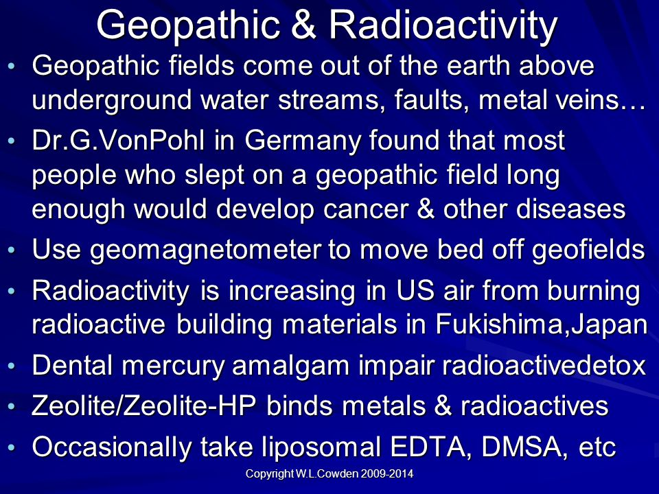 Geopathic & Radioactivity