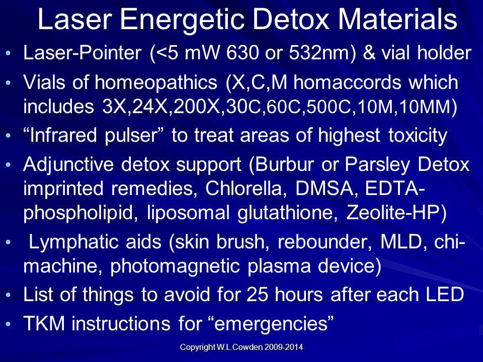 Laser Energetic Detox Materials