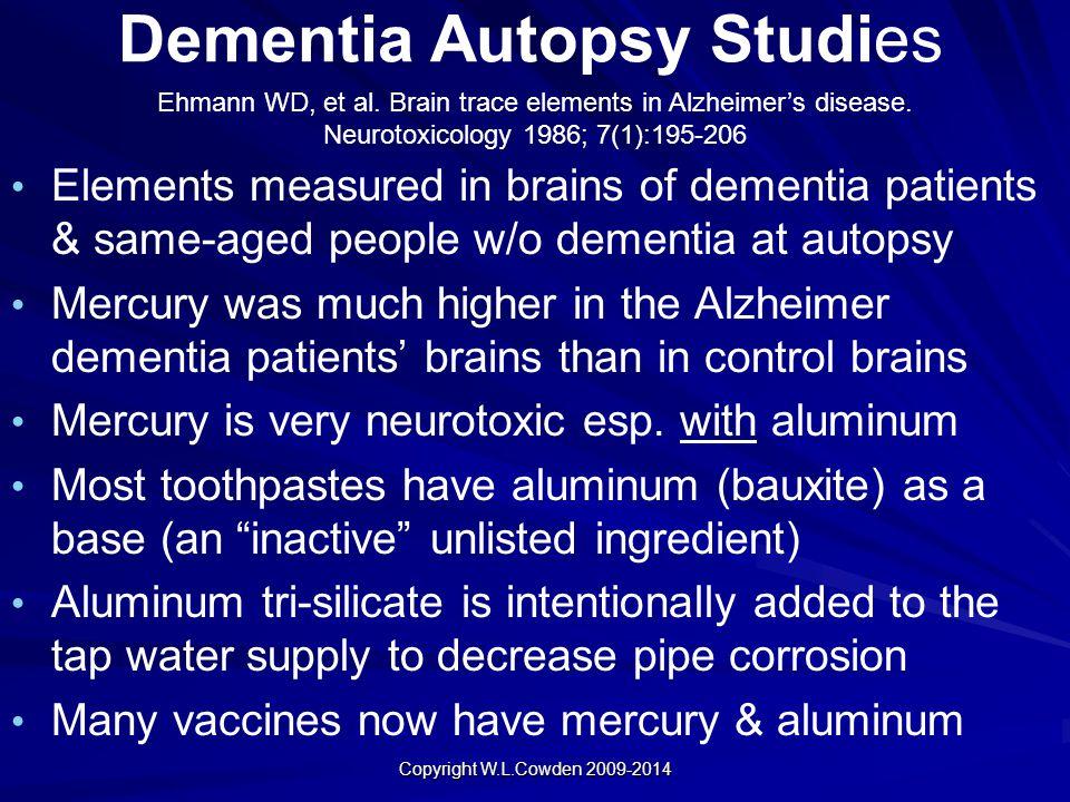Dementia Autopsy Studies