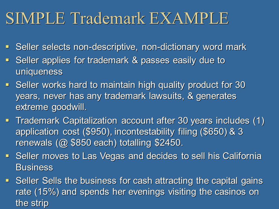 SIMPLE Trademark EXAMPLE