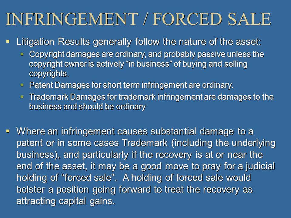 INFRINGEMENT / FORCED SALE