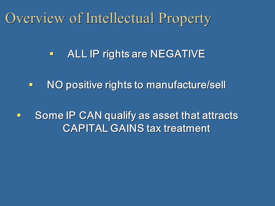 Overview of Intellectual Property