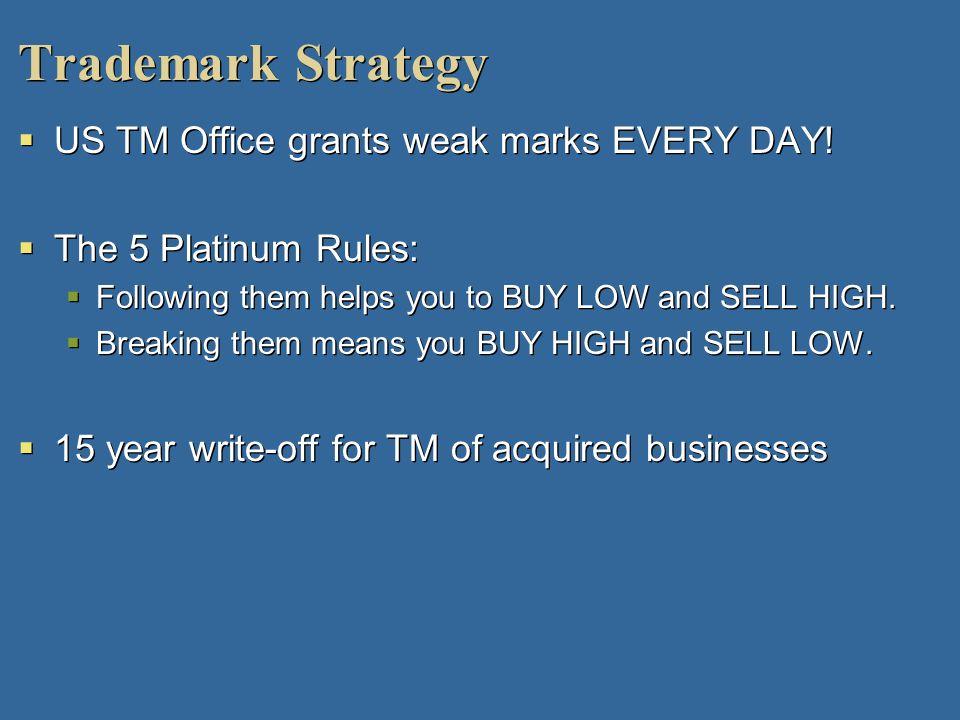 Trademark Strategy US TM Office grants weak marks EVERY DAY!