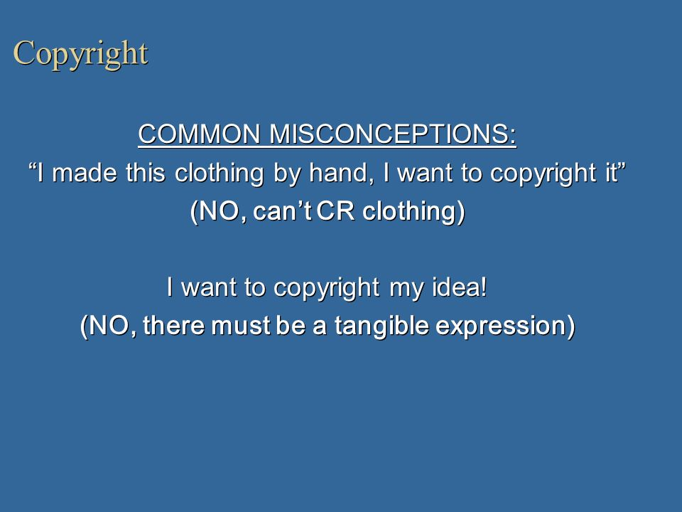 (NO, there must be a tangible expression)