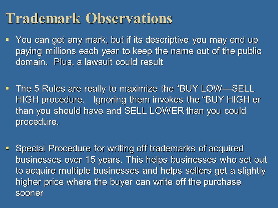 Trademark Observations