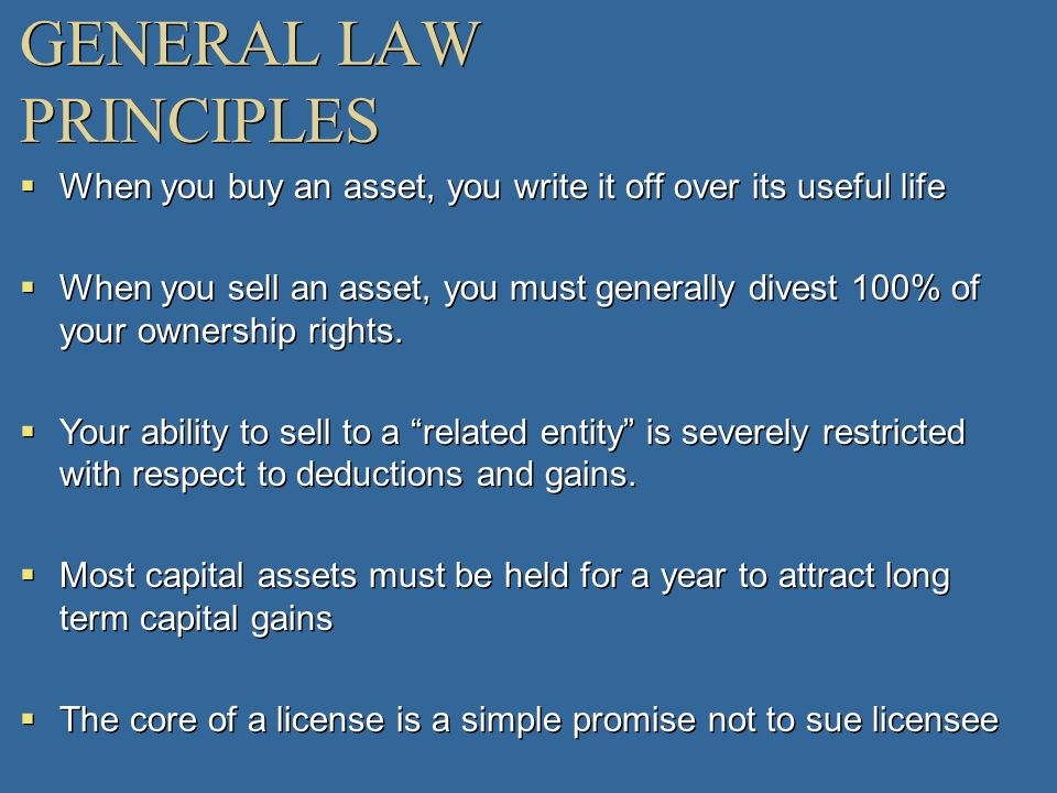 GENERAL LAW PRINCIPLES