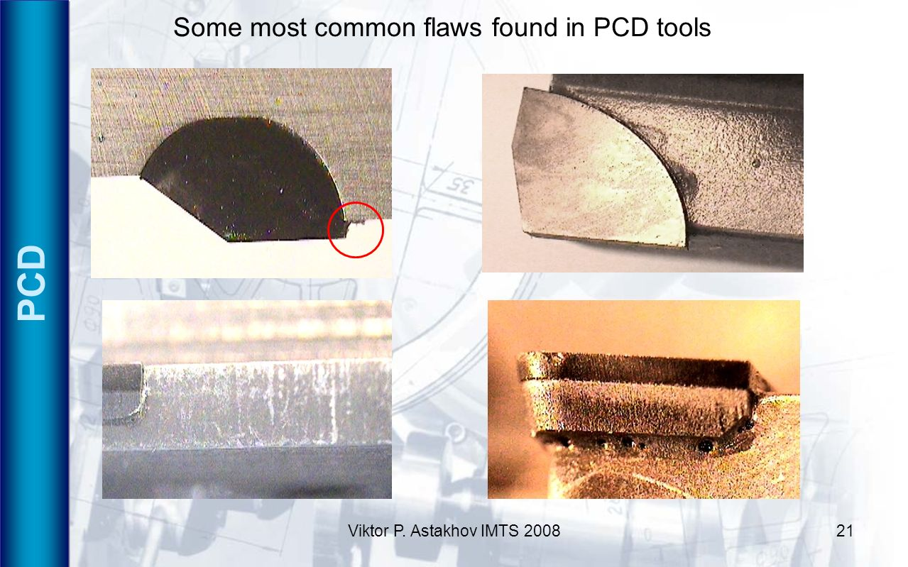 PCD Some most common flaws found in PCD tools