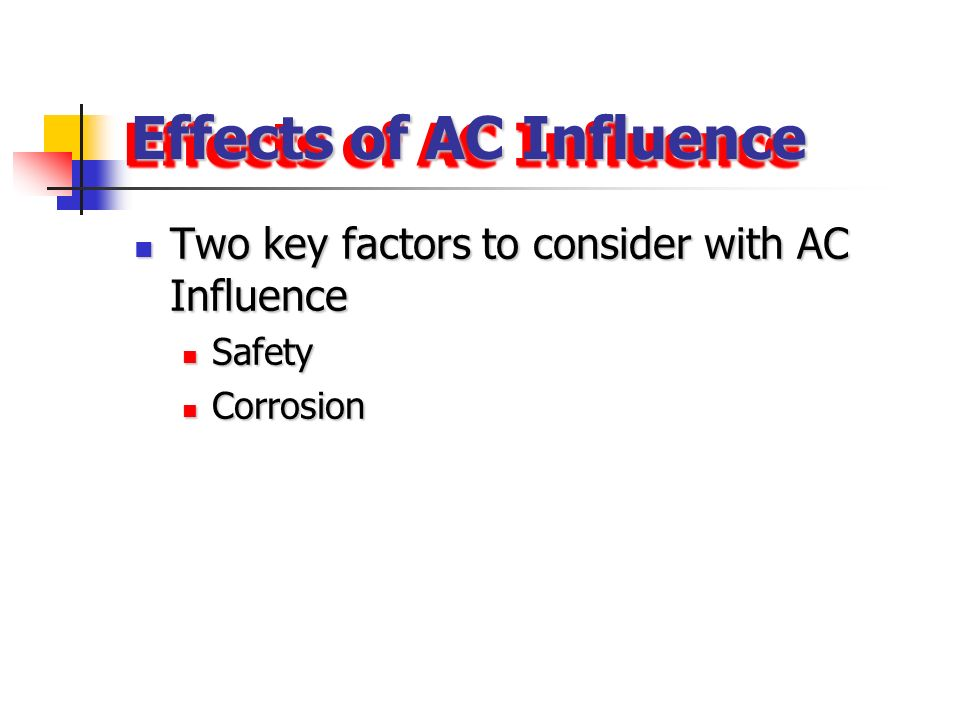 Effects of AC Influence
