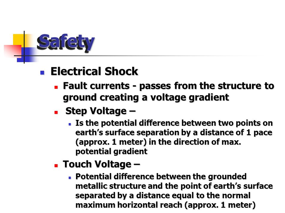 Safety Electrical Shock