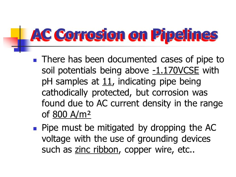AC Corrosion on Pipelines