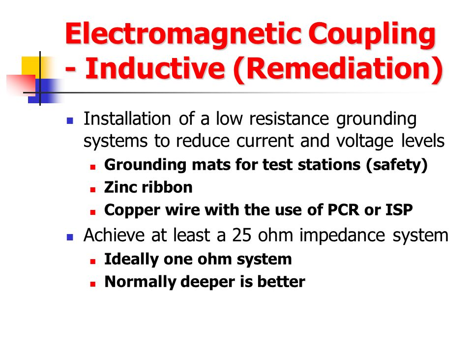 Electromagnetic Coupling - Inductive (Remediation)