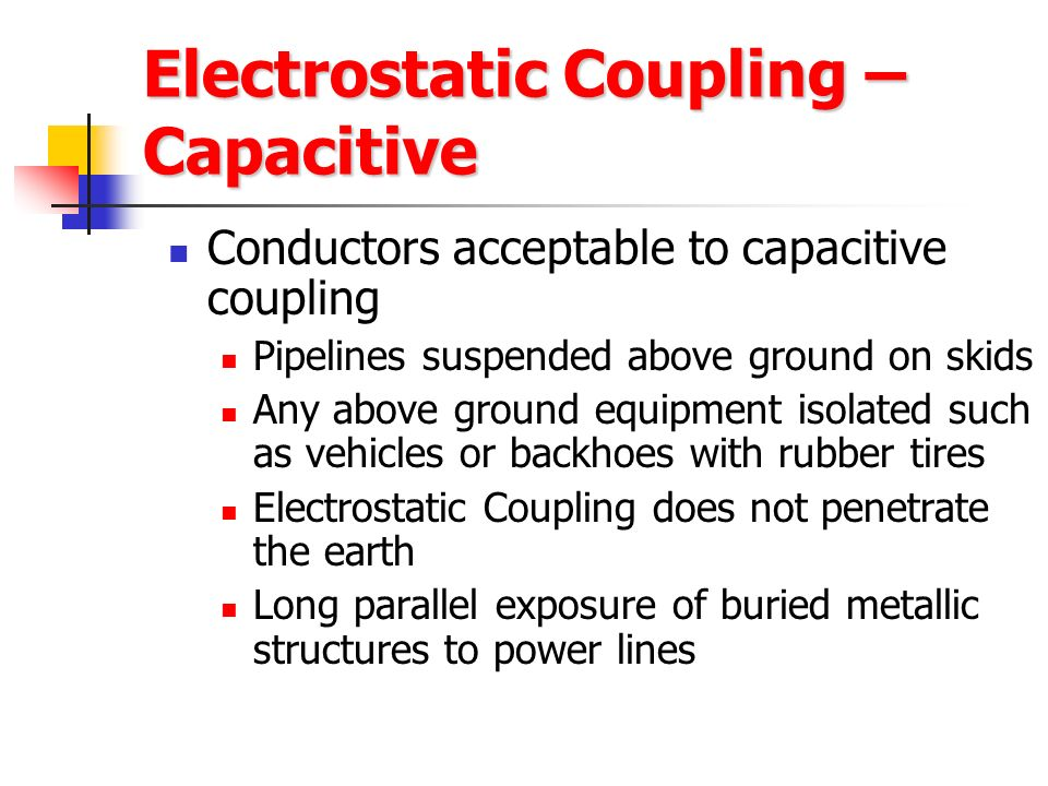 Electrostatic Coupling – Capacitive