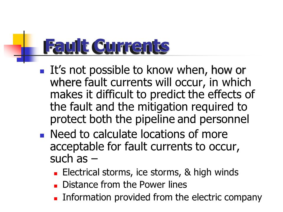 Fault Currents