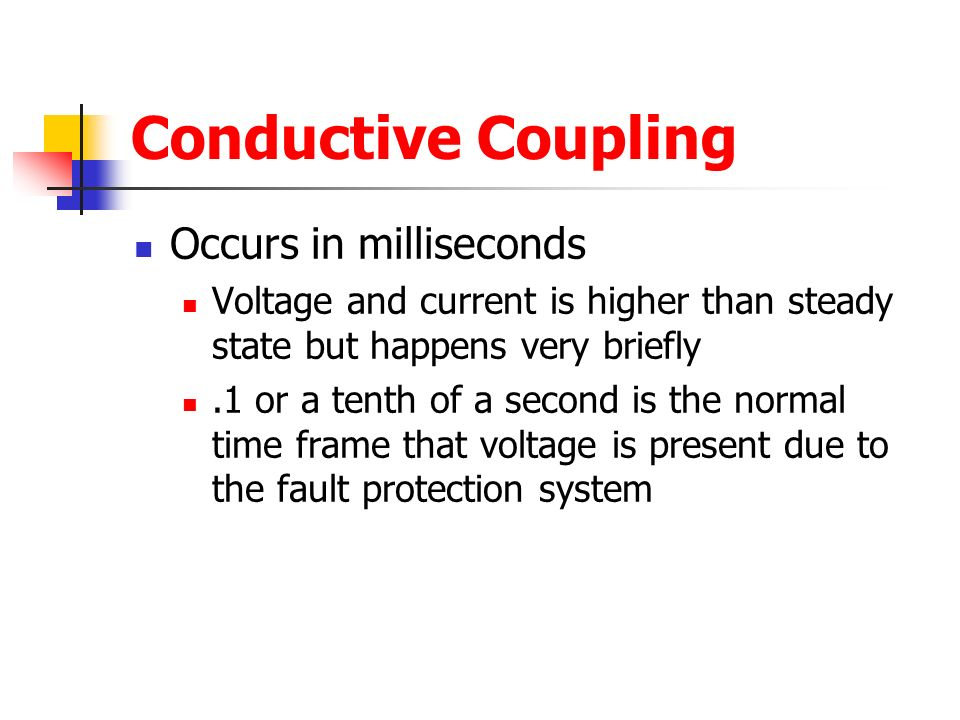Conductive Coupling Occurs in milliseconds