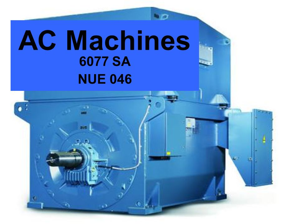 AC Machines 6077 SA NUE 046