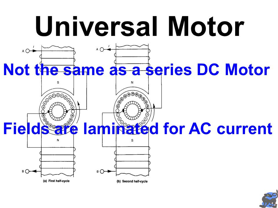 Universal Motor Not the same as a series DC Motor