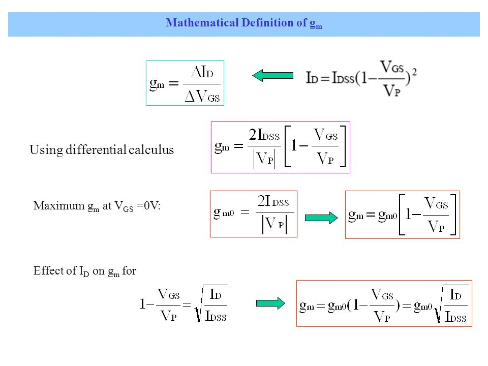 Mathematical Definition of gm