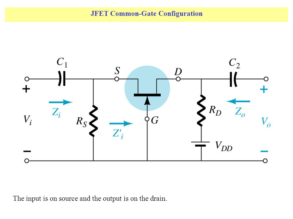JFET Common-Gate Configuration