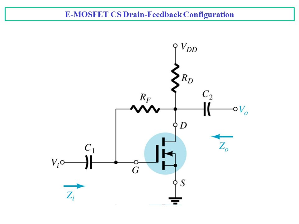 E-MOSFET CS Drain-Feedback Configuration
