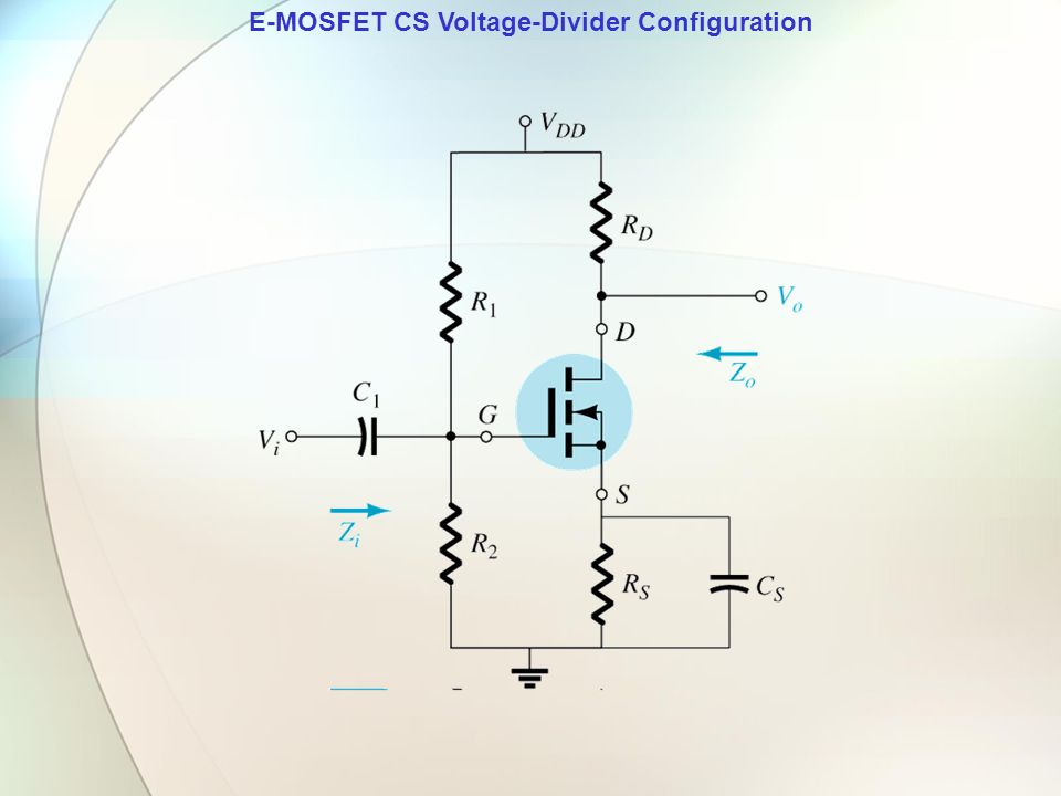E-MOSFET CS Voltage-Divider Configuration