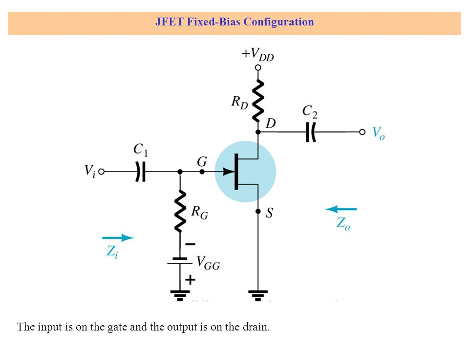 JFET Fixed-Bias Configuration