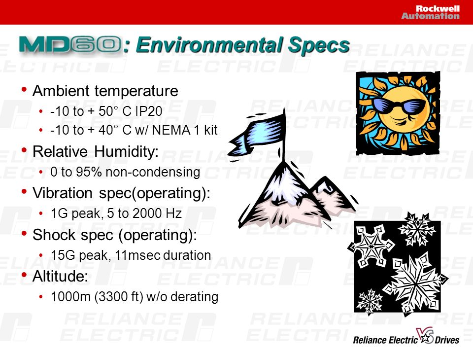 : Environmental Specs Ambient temperature Relative Humidity: