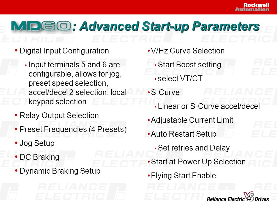 : Advanced Start-up Parameters