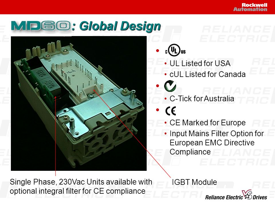: Global Design UL Listed for USA cUL Listed for Canada