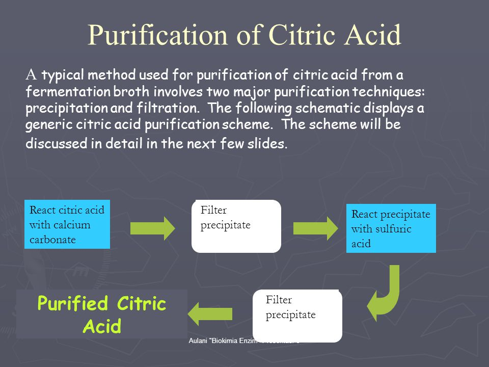 Purification of Citric Acid