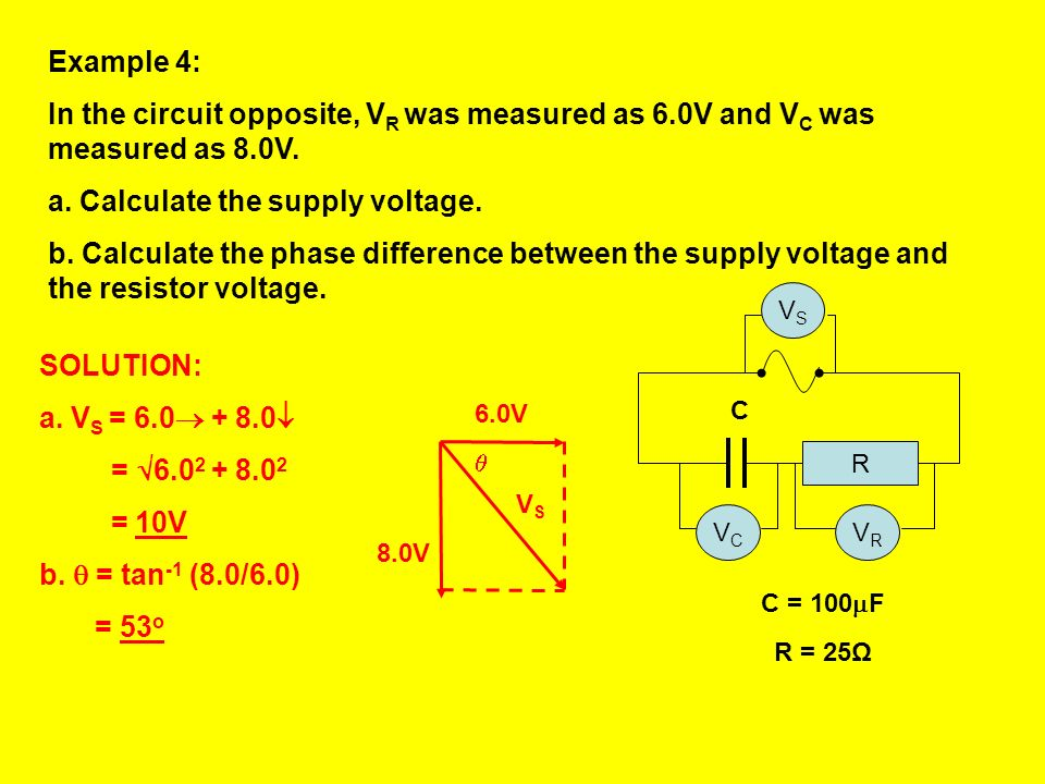 Calculate the supply voltage.