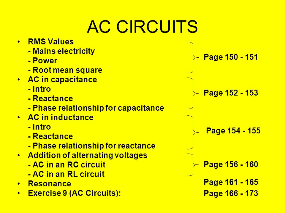 AC CIRCUITS RMS Values - Mains electricity - Power - Root mean square