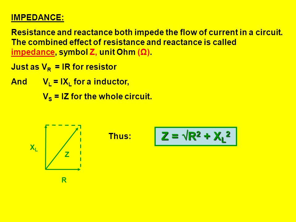 IMPEDANCE: